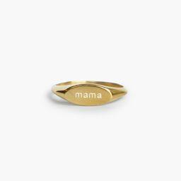 Mama Signet Ring   Live Fashionable