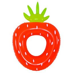 """Pool Central 72"""""""" Inflatable Red/Green Strawberr y Pool Float 