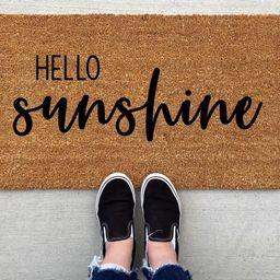 Hello Sunshine doormat, Spring Doormat, spring decor, personalized doormat, funny doormat, welcom... | Etsy (US)