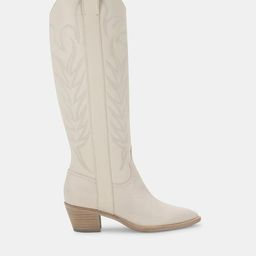 SOLEI BOOTS WHITE EMBOSSED LEATHER | DolceVita.com
