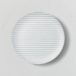 Bamboo Melamine Stripes Dinner Plate Ebony/Sour Cream - Hearth & Hand™ with Magnolia   Target