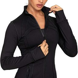 QUEENIEKE Women's Sports Jacket Slim Fit Running Jacket Cottony-Soft Handfeel 60927 | Amazon (US)