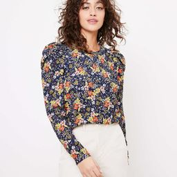 Floral Pleated Puff Sleeve Top | LOFT