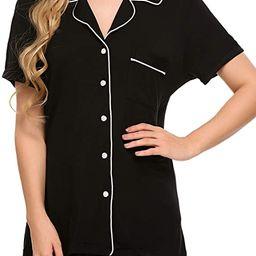 Ekouaer Pajamas Set Short Sleeve Sleepwear Womens Button Down Nightwear Soft Pj Lounge Sets XS-XX...   Amazon (US)