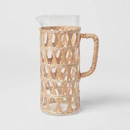 64oz Glass Natural Wrap Beverage Pitcher - Opalhouse™ | Target