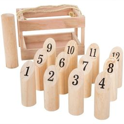 Hey! Play! Wooden Throwing Game-Complete Set   Target