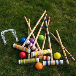 Hey! Play! Wooden Croquet Set with Carrying Case   Target