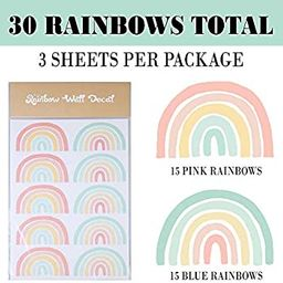 Rainbow Wall Decal | Rainbow Decals for Girl Room | Rainbow Wallpaper | Boho Rainbow Decor | Rain... | Amazon (US)