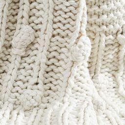 Edilon Bobble Knit Throw   Pottery Barn (US)