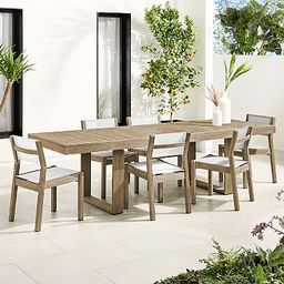 Portside Outdoor Expandable Dining Table & Textilene Chairs Set | West Elm (US)