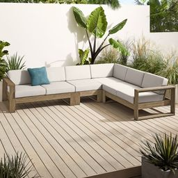 Portside Outdoor 4-Piece Sectional | West Elm (US)