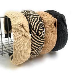 Top Knot headbands, Knotted Headband, Headband, Woven Headbands, Women Top Knot headband, Summer ...   Etsy (US)