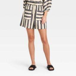 Women's Striped Shorts - Who What Wear™ Gray/White | Target