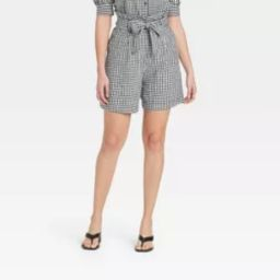 Women's Floral Print High-Rise Shorts - Who What Wear™ Black/White | Target
