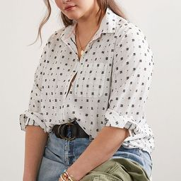 Maeve Clip Dot Relaxed Buttondown | Anthropologie (US)