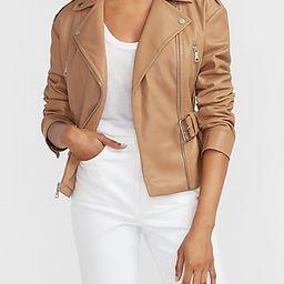 Vegan Leather Belted Drop Shoulder Jacket   Express