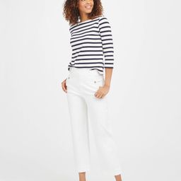 Stretch Twill Cropped Wide Leg Pant | Spanx