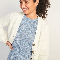 Textured Shaker-Stitch Button-Front Cardigan Sweater for Women | Old Navy (US)