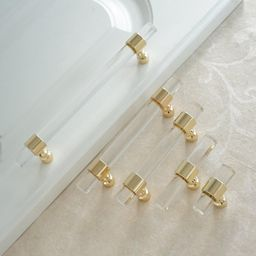 Customizable Drawer Pulls and Knobs  Acrylic Gold Clear   Etsy   Etsy (US)