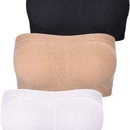 Women Bandeau Bra Padded Strapless Brarette Soft Bra Seamless Bandeau Tube Top Bra, Assorted Size...   Amazon (US)