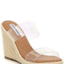 Marlowe Clear Banded Espadrille Wedge Sandals | Dillards