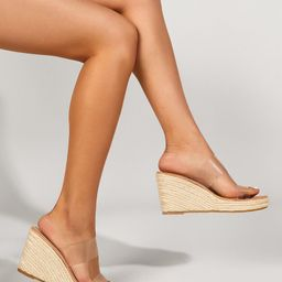 Clear Double Band Wedge Mules | SHEIN