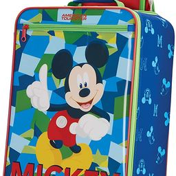 American Tourister Kids' Disney Softside Upright Luggage, Mickey Mouse 2, Carry-On 18-Inch | Amazon (US)