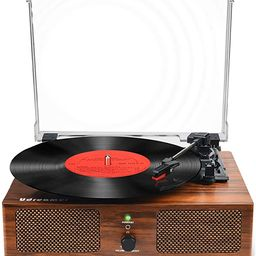 Vinyl Record Player Bluetooth Turntable with Built-in Speakers and USB Belt-Driven Vintage Phonog... | Amazon (US)