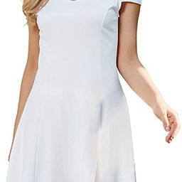 InsNova Women's Cold Shoulder High Low Flared Little Cocktail Party Skater Dress,wedding guest dress | Amazon (US)