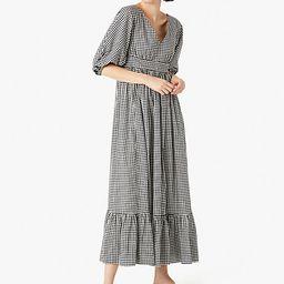 mini gingham bodega midi dress | Kate Spade (US)