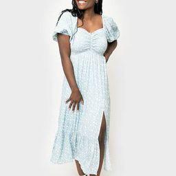 Jennifer Smocked Puff Sleeve Dress | Gibson
