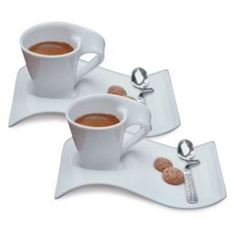 Villeroy & Boch New Wave White 6-Piece Espresso Set   Bed Bath & Beyond   Bed Bath & Beyond