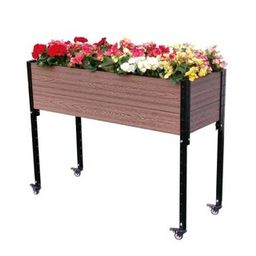 EverBloom 45 in. W x 18 in. D x 36 in. H Urban Mobile Garden-E334518W - The Home Depot   The Home Depot