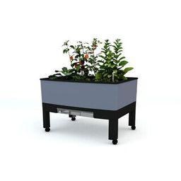 VITA World Garden 33.5 in. x 24.25 in. x 23 in. Grey In/Outdoor Self Watering Garden-VT17401 - Th...   The Home Depot