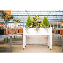 VITA Sunseeker 2 ft. x 4 ft. White Vinyl Raised Garden Bed-VT17100 - The Home Depot   The Home Depot