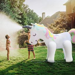 Fun Floats Giant Inflatable Unicorn Sprinkler Unicorn Water Toys for Summer Yard and Outdoor Play...   Amazon (US)
