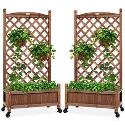 Best Choice Products Set of 2 48in Wood Planter Box & Diamond Lattice Trellis, w/ Drainage, Optio...   Target