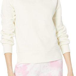 Amazon Essentials Women's Classic Fit Gathered Long Sleeve Crewneck Sweatshirt | Amazon (US)