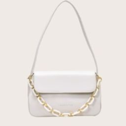 Letter Graphic Flap Tote Bag   SHEIN