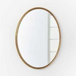 """26"""" x 36"""" Oval Shape Antique Mirror Brass - Threshold™ designed with Studio McGee   Target"""