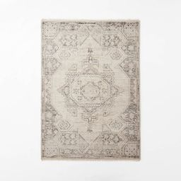 Knolls Authentic Hand Knotted Distressed Persian Rug Ivory - Threshold™ designed with Studio Mc...   Target