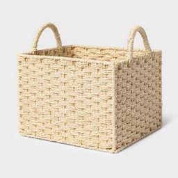 Rectangular Decorative Basket Natural - Threshold™   Target