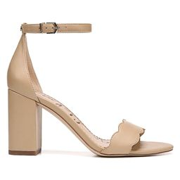 Sam Edelman Women's Odila Scallop Leather Sandals - Nude - Size 10   Saks Fifth Avenue OFF 5TH