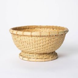 """5"""" x 10"""" Round Bamboo Woven Bowl Natural - Threshold™ designed with Studio McGee   Target"""