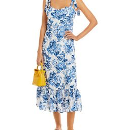 AQUA                                                        Toile De Jouy Sleeveless Dress - 100%...   Bloomingdale's (US)
