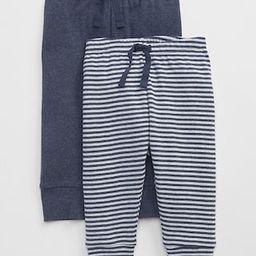Gap Baby Favorite Stripe Knit Pants (2-Pack) Navy Heather Size 0-3 M | Gap US