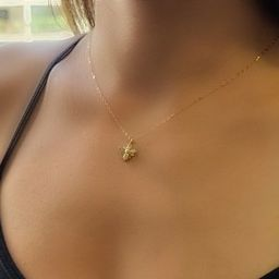 Dainty Bee Necklace - Tiny Silver, Rose or Gold Bee Jewelry, Sparkling Bumble Bee, Honey Bee Jewe...   Etsy (US)
