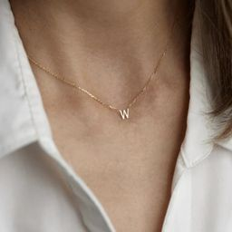 Personalized Letter Necklace, 925 Sterling Silver Necklace, Tiny Initial Necklace, Dainty Letter ...   Etsy (US)