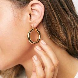 ASOS DESIGN 14k gold plate tube hoop earrings in 35mm tube design   ASOS (Global)