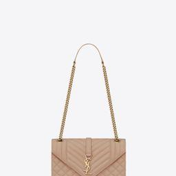 envelope medium bag in mix matelassé grain de poudre embossed leather | Saint Laurent